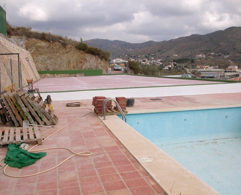 muro piscina pistas cotomar