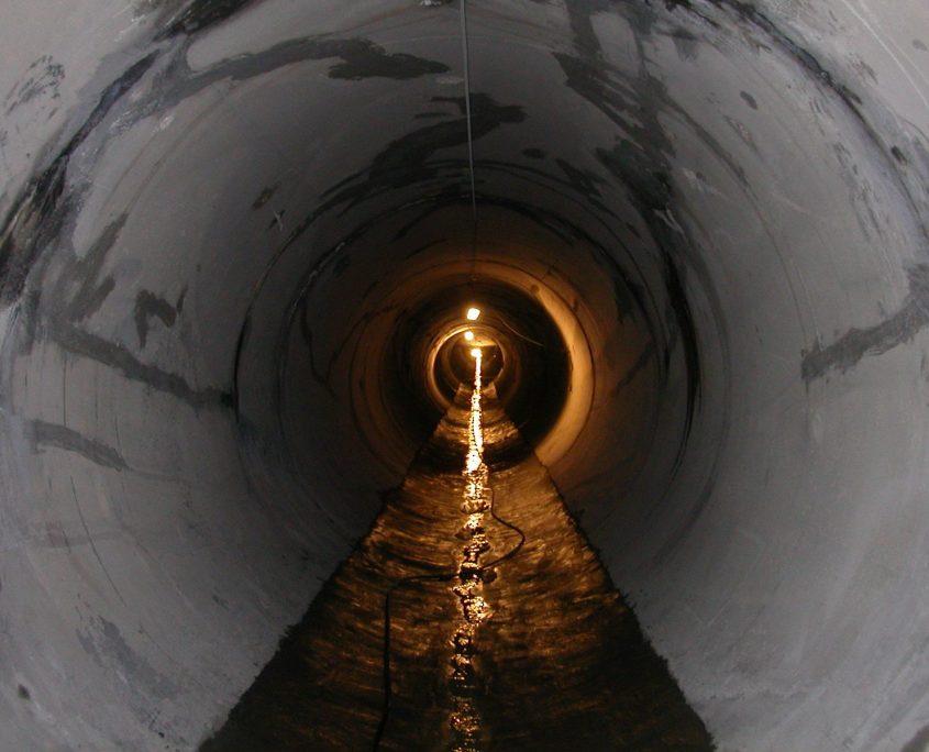 reparacion tunel presa